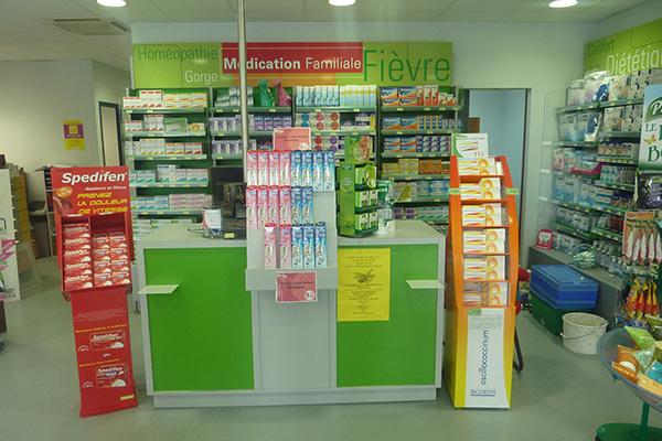 Espace comptoir double pharmacie