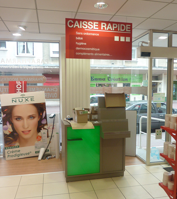 Comptoir de vente rapide pharmacie
