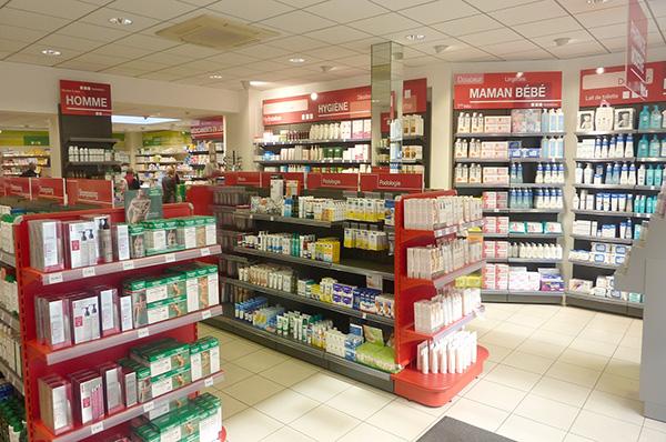 Gondole d'exposition pharmacie