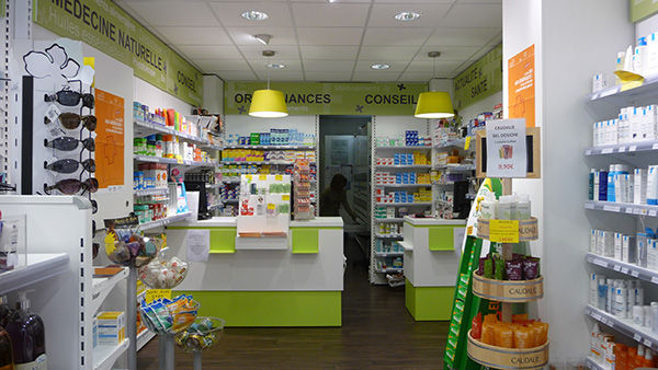 Espace intérieur pharmacie
