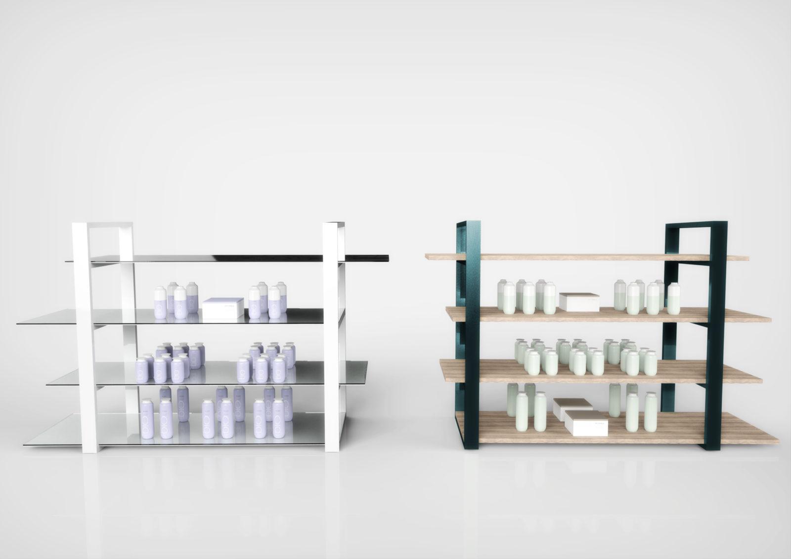 Gondole centrale de pharmacie - Parfumerie