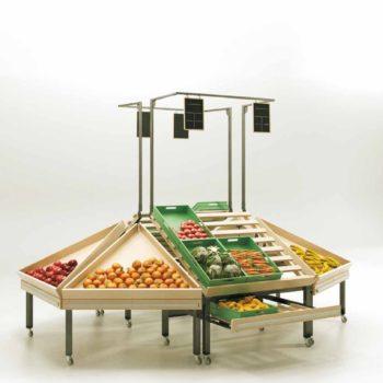 Mobilier d'exposition fruits & légumes